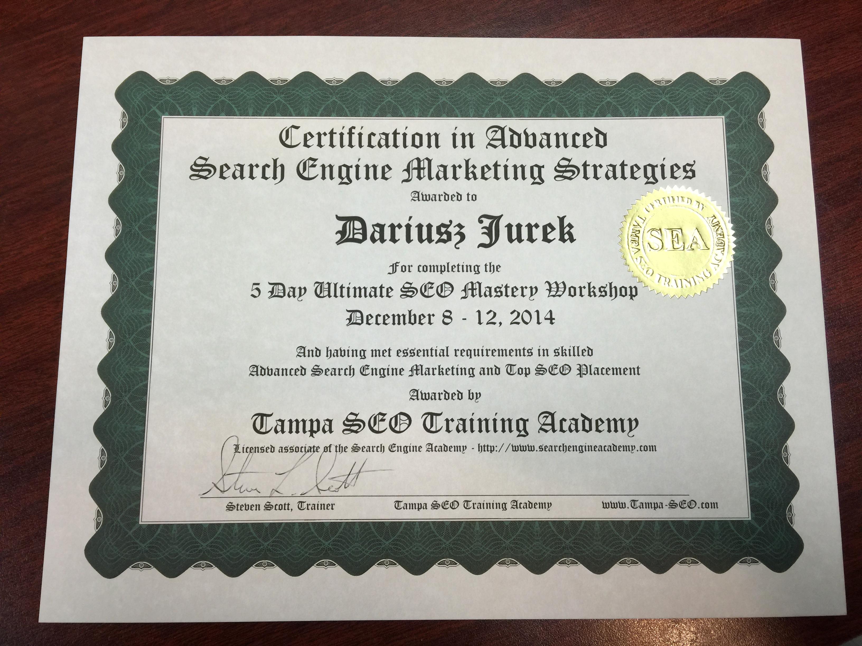 Search Engine Academy vs Bruce Clay - Rynek Szkolenia SEO w USA - Dariusz Jurek - SEO / Inbound Marketing